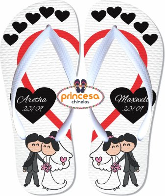 chinelos personalizados para casamento elo7