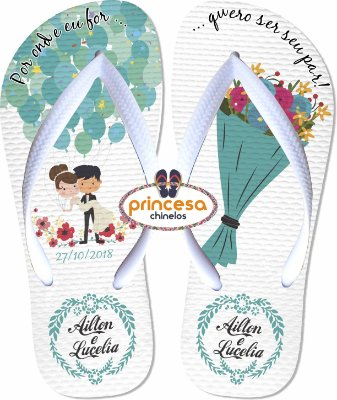 chinelos personalizados para casamento preço