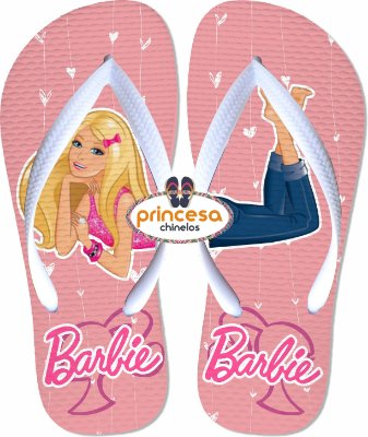 chinelo da barbie
