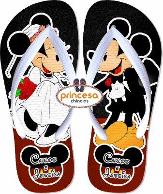 chinelo mickey e minnie casamento