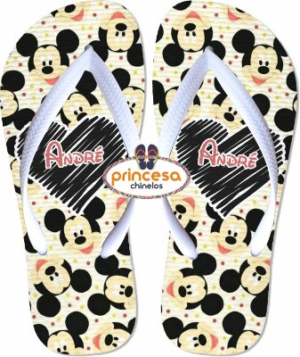chinelo do mickey masculino