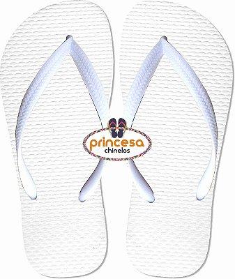 chinelos personalizados branco a ser personalizado - VIP Personalize