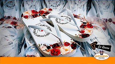chinelos personalizados para casamento na 25 de março - kit com 100 pares linha Premium