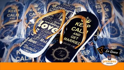 chinelos personalizados para as madrinhas - kit com 65 pares linha Premium