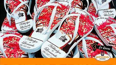sandalias personalizadas para casamento sp - kit com 120 pares Linha Econômica