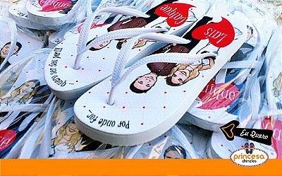 chinelos personalizados para casamento baratos sp - kit com 30 pares Linha Econômica