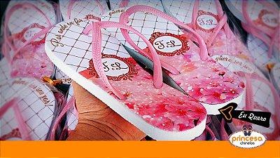 chinelos personalizados para casamento campinas - kit com 30 pares linha Premium