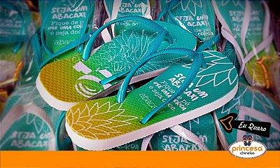 sandalias personalizadas para casamento em recife - kit com 65 pares Linha Econômica