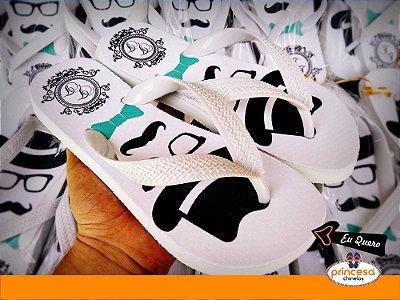 chinelos personalizados para lembrança de casamento