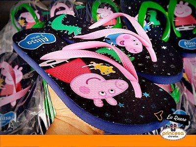 chinelos personalizados aniversario infantil