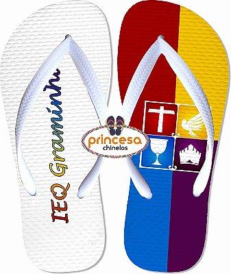 chinelos personalizados para igreja