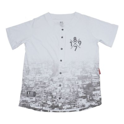 Camiseta Baseball Favela 1897 Branca