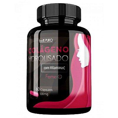 COLÁGENO HIDROLISADO com VITAMINA C -  60 Cáp 500 mg