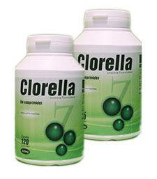 Clorela - 120 Cáp 500 mg - KIT 2 frascos