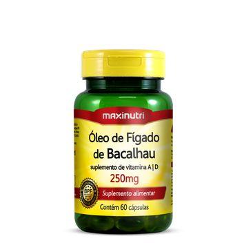 Óleo de Fígado de Bacalhau 250 mg 60 Cáps