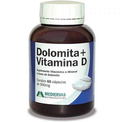 Dolomita + Vitamina D  - 60 Cáp - 500 mg