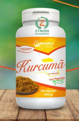 Cúrcuma (Açafrão da Terra) - 100 Cáp 400 mg