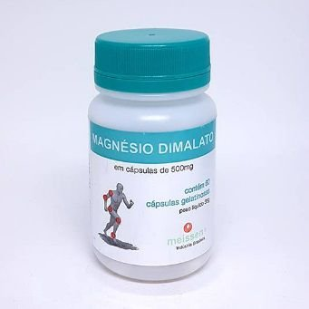MAGNESIO DIMALATO - 60 Cáp - 500 mg
