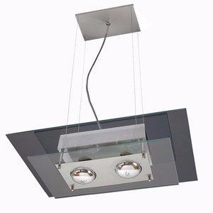 Pendente em Aluminio e Vidro Pantoja e Carmona 140
