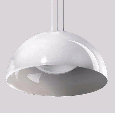 Pendente POLLY Bco/Pto 45X23cm Stilo Clean 20.981 20.982