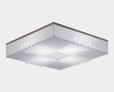 Pendente Prisma Branco 50X50X18 Stilo Clean 22.323