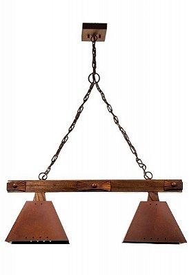 Pendente Trilho Napoli 2 lamp (oxidado) Madelustre 2143/2