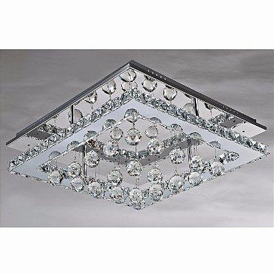 Plafom em Cristal com LED 32W 40X40cm BLEST PL813