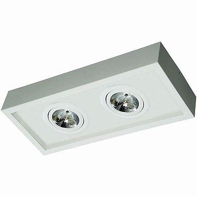 Plafon Aluminio / Acrilico 2 Lampadas AR-70 35X22X14cm Femarte 1264