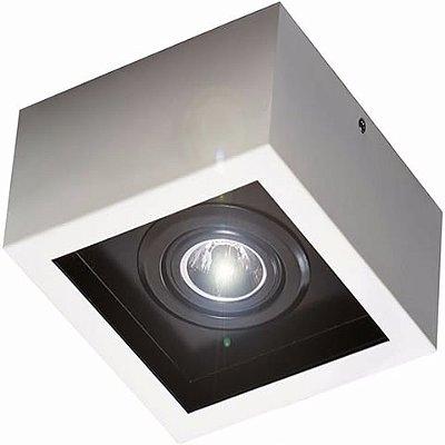 Plafon Aluminio p/ 1 lampada dicróica 21X21X9cm Femarte 1243