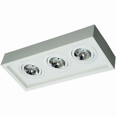 Plafon Aluminio/Acrilico 3 Lampada AR-111 58X25X14cm Femarte 1269