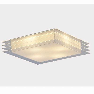 Plafon Cisne Cristal 43x43x11cm Stilo Clean 22.119