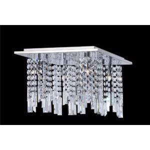 Plafon Cristal Quadr. 38x38 cm 4 soquetes G9 40W Biancoluce MX11050-4B