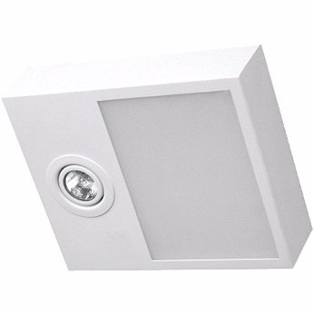 Plafon Sobrepor Aluminio / Vidro Piuluce 5701
