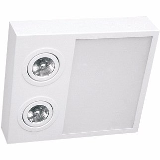 Plafon Sobrepor Aluminio / Vidro Piuluce 5705