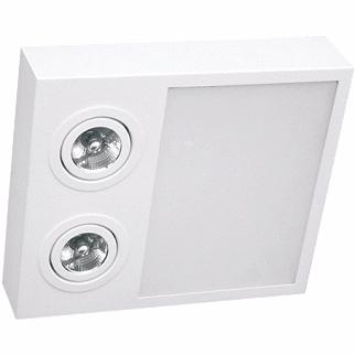 Plafon Sobrepor Aluminio / Vidro Piuluce 5707