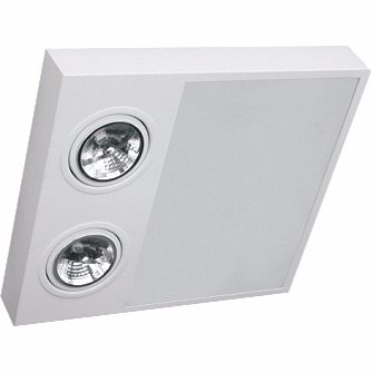 Plafon Sobrepor Aluminio / Vidro Piuluce 5716