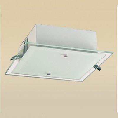 Plafonier / Embutido Clean 2 Lâmpadas (28x28) Madelustre 66015.43.00.93
