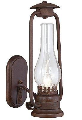 Arandela Lampião 1 Lâmpadas Vidro Cristal Madelustre 2622