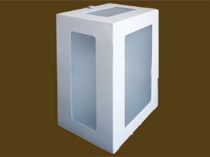 Arandela Retang. 5 vidros Biancoluce 1213