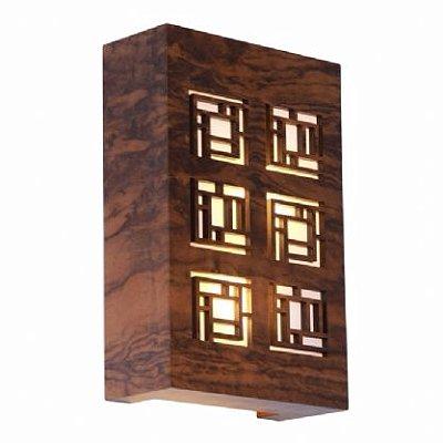Arandela Retangular Labirinto 20X30X8,5 Accord 4002