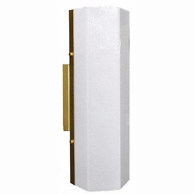 Arandela sextavada Aluminio / Acrilico Fosco Piuluce 3065