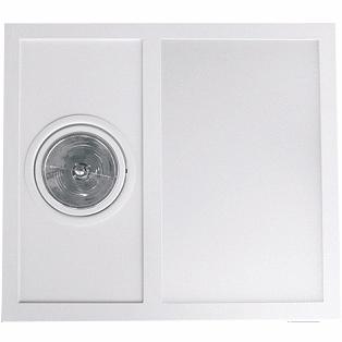 Embutido Sem Abas e frente móvel. Aluminio / Vidro Piuluce 5642
