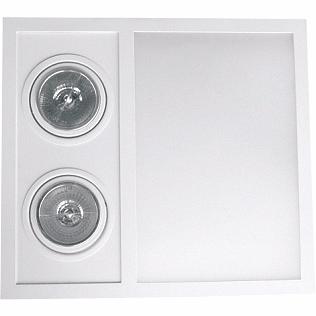 Embutido Sem Abas e frente móvel. Aluminio / Vidro Piuluce 5651