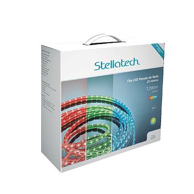 Fita Tensão de Rede ROLO 25m 7,2W/m Stellatech STH4851/RGB STH4852/RGB
