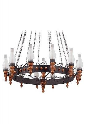 Lustre Medieval 13 lâmpadas (1213) Madelustre 60018.13.26.01