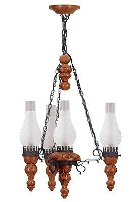 Lustre Medieval 4 lâmpadas (1210) Madelustre 60012.13.26.01