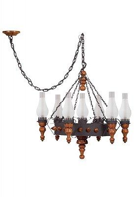 Lustre Medieval 7 lâmpadas (1204) Madelustre 60014.13.26.01