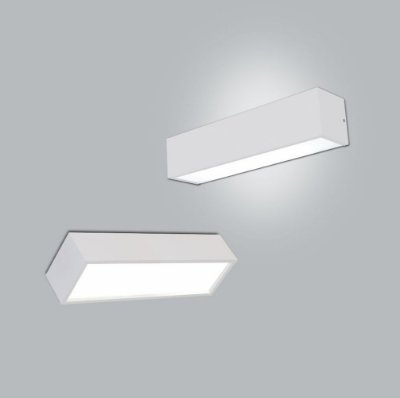 Arandela Retangular Tropical com 2 Difusor 55x12cm - Usina Design 4010-54