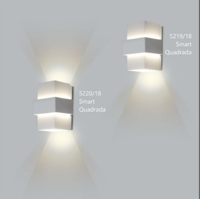 Arandela Quadrada Smart 12 cm - Usina Design 5220-18