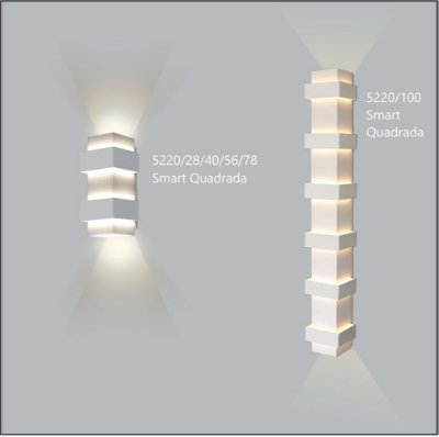 Arandela Quadrada Smart 12 cm - Usina Design 5220-56